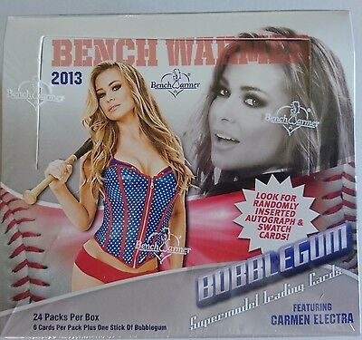 2013 Bench Warmer Bubblegum Trading Cards Feat Carmen Electra 24 Pack Box Neu