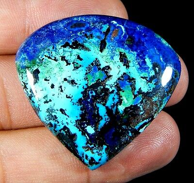 79 Ct Superb 100% Natural Deep Blue Azurite Pear Cabochon Untreated Gemstone D16