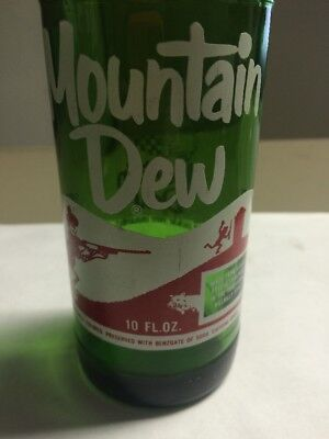 Vintage Mountain Dew Soda Bottle With Yahoo Hillbilly & Laughing Pig. Dated Ls69