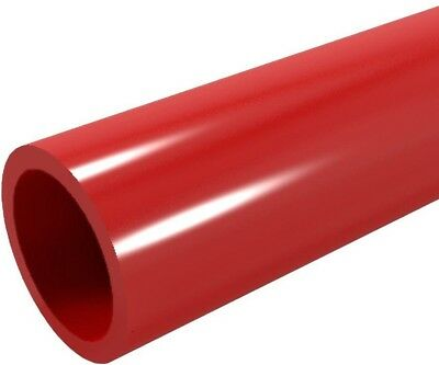 Formufit 1 In x5 Ft Furniture Grade Sch 40 PVC Pipe In Red Lead Free Heavy Metal
