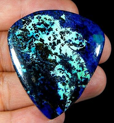 105Ct Superb 100% Natural Deep Blue Azurite Pear Cabochon Untreated Gemstone D10