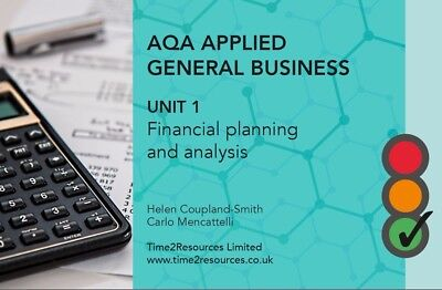 AQA General Applied Unit 1 Financial Planning & Analysis Revision Guide