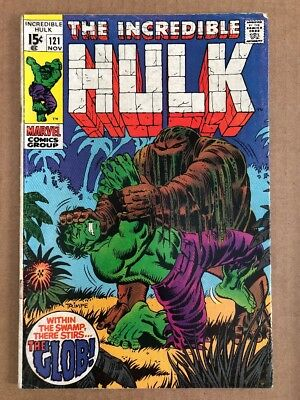 INCREDIBLE HULK #121, (1969) VG+ 1st Appearance Of The Glob