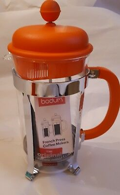 BODUM Orange Cafetierre French Press Coffee maker 8 cup size/1.0L NEW in box