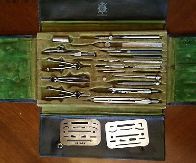 Vintage Schoenner Drafting Tool Set w/Case Germany