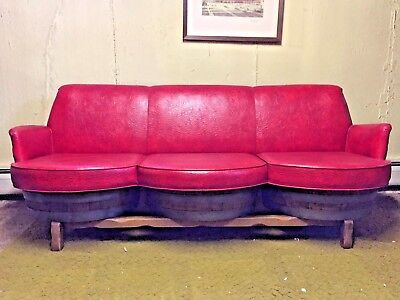 Vintage Retro 1960s Whiskey Barrel Couch Sofa Chairs - Sour Mash Whiskey Barrels