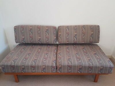 Danish Mid century Upholstered convertible day bed sofa