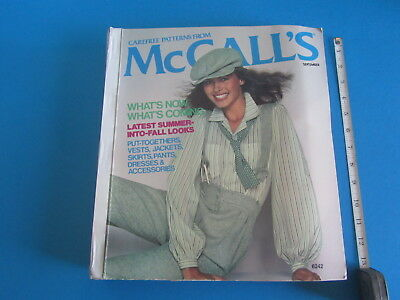 McCalls Carefree Patterns Store Counter Catalog September 1978