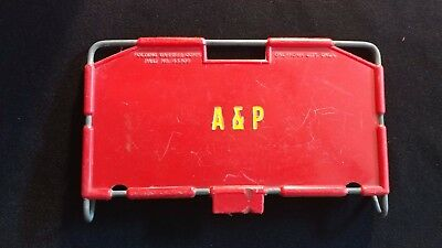 Vintage Original A&p Food Store Basket Seat With A&p Logo