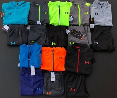 Under Armour Boys UA Outfit Track Suit Kid Boys Size 2 3 4 5 6 GENUINE NEW