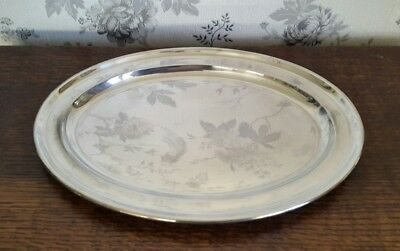 A Vintage Silver Plated Serving Platter/ Tray by Mappin & Webb