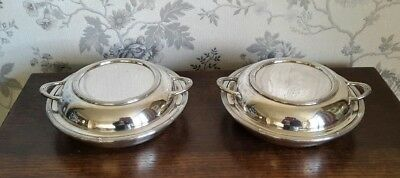 A Pair of Vintage Silver Plated Entrée Dishes by Elkington & Co