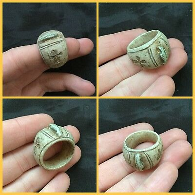 ANCIENT EGYPTIAN STONE RELIGIOUS CROSS RING MIDDLE KINGDOM.c1500BC