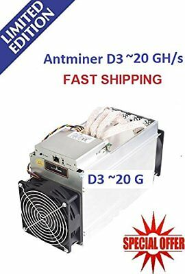 Bitmain Antminer D3 Dash Miners X11 19.3Gh/s +5% instock with Power supply PSU