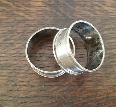 A Pair of Solid Silver Napkin Rings,  Birmingham 1919