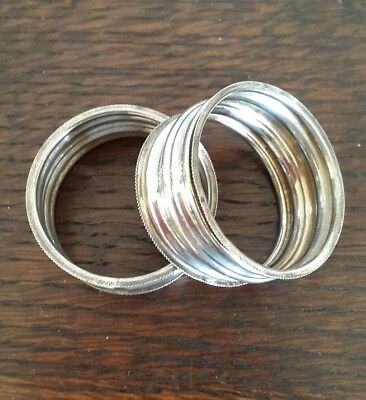 A Pair of Solid Silver Napkin Rings, Birmingham 1911