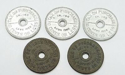 Washington State Vintage Sales Tax Tokens