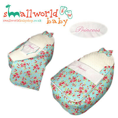 Personalised Vintage Floral Baby Bean Bag Sleep Pod (NEXT DAY DISPATCH)