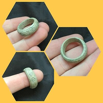 ANCIENT EGYPTIAN GALSS FAIENCE  RING MIDDLE KINGDOM.c1500BC