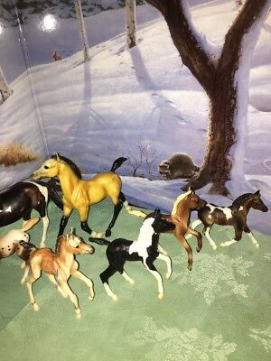 lot of 7 medium size Breyer horse models