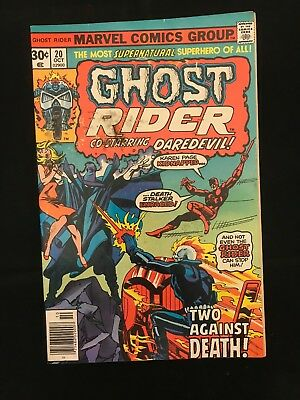 Ghost Rider #20 Gd/vg Marvel Comics Bronze Age Ghost Rider!
