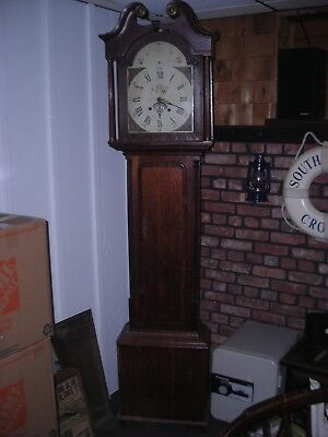 Antique English Tall case Grandfather Clock early 1800s. Restoration Project.