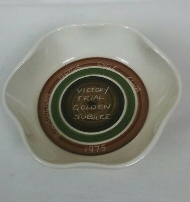 Dragon Pottery Rhayader  Dish Birmingham Motor Cycle Club Golden Jubilee 1975