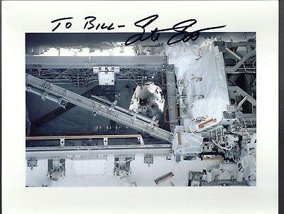AUTOGRAPH, HAND SIGNED  STS-110 Spacewalker Astronaut STEVE SMITH--