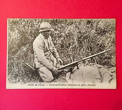 World War 1 Postcard! French Automatic Rifle Collectable Post Card Rare