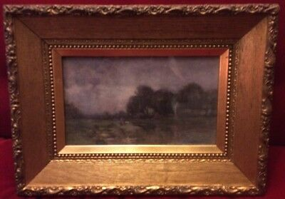 STUNNING Antique 19Th Century watercolour English School Of Art Gilt Gesso