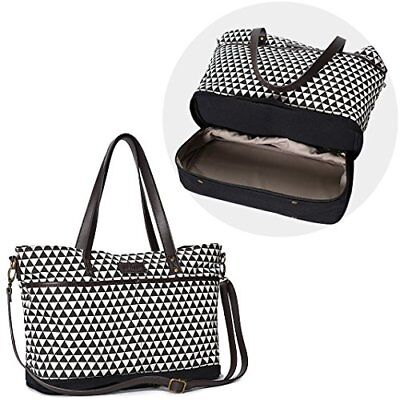 LIMITED OFFER Expandable Designer Baby Diaper Tote Bag by Moskka - 13 Pockets...