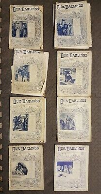 Lot of Our Darlings comics magazines from early 1897 120 year old  Loft find!