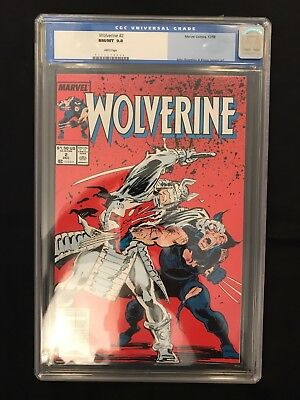 Wolverine #2 (1988 Series) CGC 9.8 White Pages