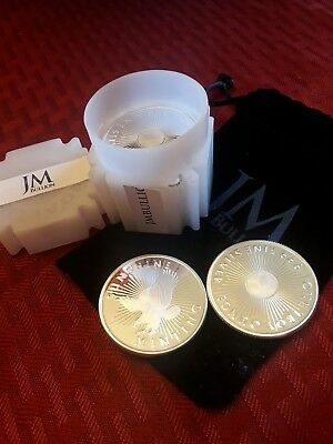 10 Sunshine Minting 1oz .999 silver rounds in roll. proof like!