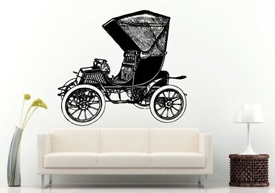 Wall Room Decal Vinyl Sticker American Muscle Old Antique Classic Sport Car L696