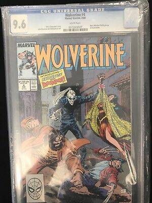 Wolverine #4 (1988 Series) CGC 9.6 White Pages
