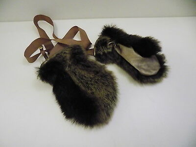 No Added Sugar faux fur mittens / gloves size 5-6 6-7 7-8 years WORN ONCE     mw