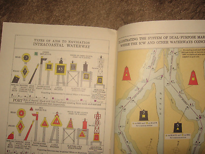 2 Lg GREAT LAKES CHART  & COMPLETE BOOK with US  NAUTICAL CHART SYMBOLS