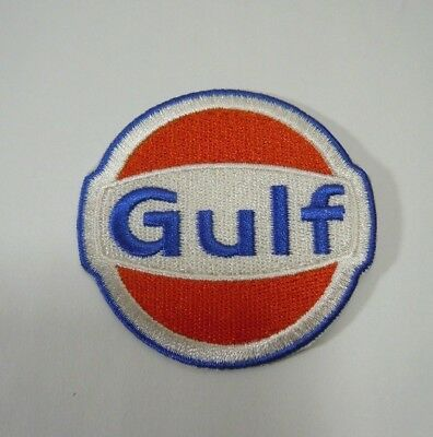"""GULF Fuel Embroidered Sew On Uniform-Jacket Patch 2 3/8"""""""