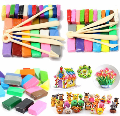 Oven Bake Polymer Clay Block Modelling Moulding Sculpey Tool 500G Set 24 Colour