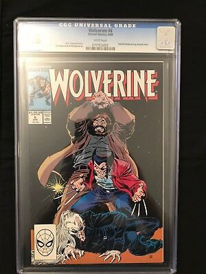 Wolverine #6 (1988 Series) CGC 9.8 White Pages