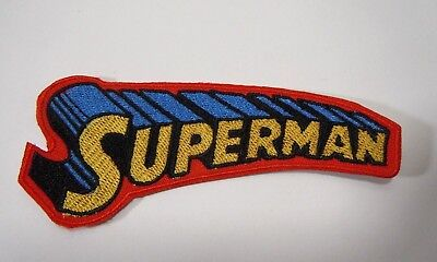 """SUPERMAN Logo Super Hero Embroidered Iron-On Patch - 4"""""""