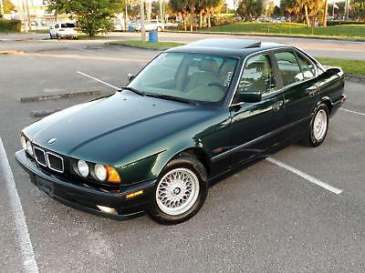 1995 BMW 5-Series Sedan 4-Door 1 OWNER 1995 BMW 525i E34 6Cyl Oxford Green Metallic Great Condition Rare Find!