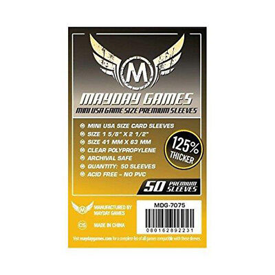 500 Mayday Premium Mini USA 41 x 63 Board Game Sleeves - 10 Packs - Brettspiel H
