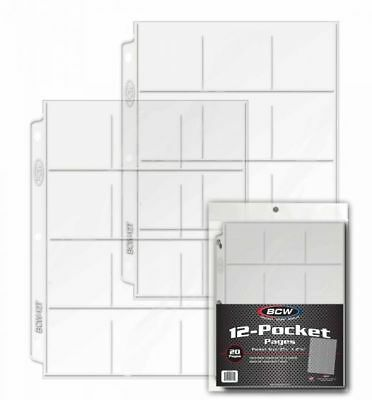 BCW Vinyl 20 Pocket Pages With Thumb Cut 10 Ct. Pac