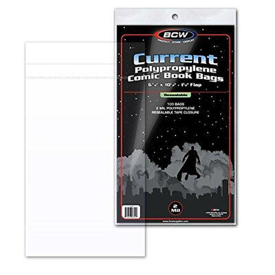 BCW Resealable Current Comic Book Bags (100 ct.)