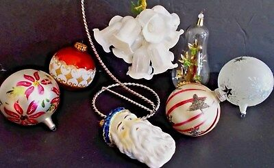 Vintage Lot Of Glass Ornaments Italy, Germany, West Germany Resl Lenz And More!