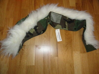 New US ARMY GORETEX RUFF FUR PARKA EXTENDED COLD WEATHER WOODLAND CAMO JACKET b2