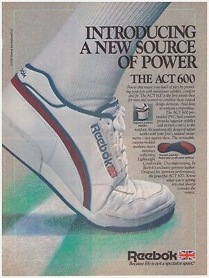 Original 1985 Reebok The ACT 600- A New Source of Power Vintage Print Ad