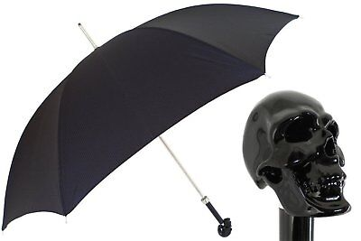 Pasotti Black Skull Umbrella